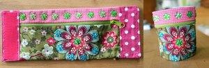 Armbandtasche Blumen