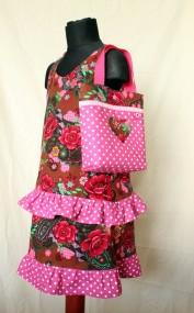 """Kleidchen & Tasche """"Rosenmeer"""" Gr. 116"""